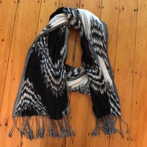Anthropologie Scarf - Black and White